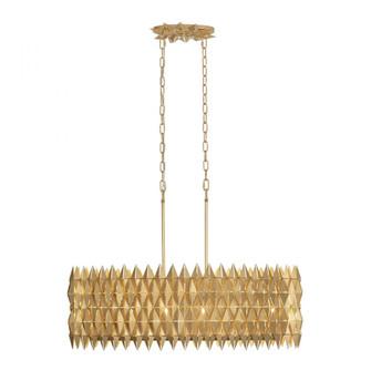 Forever 6-Lt Linear Pendant - French Gold (158|342N06FG)