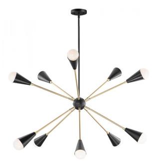 Lovell 10-Light Pendant (19|11268BKSBR)