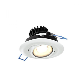 Round gimbal recessed light (776|LEDDOWNG3-WH)