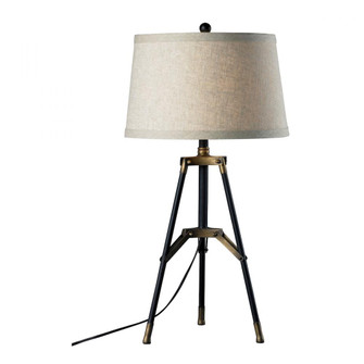 Functional Tripod Table Lamp in Restoration Black and Aged Gold (91|D309)