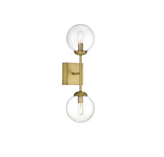 2 Light Natural Brass Sconce (8483|M90001NB)