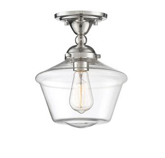 1 Light Polished Nickel Semi-Flush (8483|M60059PN)