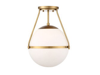1 Light Natural Brass Semi Flush (8483|M60054NB)
