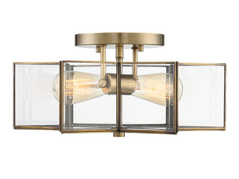 2 Light Natural Brass Semi Flush (8483|M60021NB)