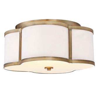 3 Light Natural Brass Semi Flush (8483|M60020NB)