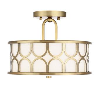 2 Light Natural Brass Semi Flush (8483 M60015NB)
