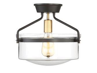 1 Light Oiled Rubbed bronze with Brass accents Semi Flush (8483|M60011ORBNB)