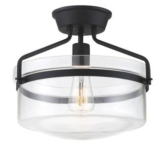 1 Light Matte Black Semi-Flush (8483|M60011MBK)