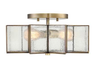 2 Light Natural Brass Semi Flush (8483|M60004NB)