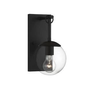 1 Light Matte Black Exterior Wall Sconce (8483|M50029BK)