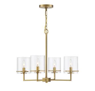 4 Light Natural Brass Chandelier (8483|M10076NB)