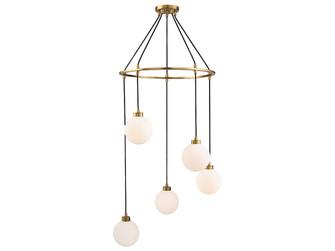 5 Light Natural Brass Pendant (8483|M10059NB)