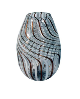 VASE, OVAL, CANALE, WHITE (272|40-209/C)