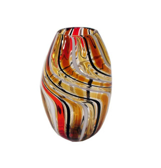 VASE, OVAL, CANALE, AMBER (272|40-209/A)