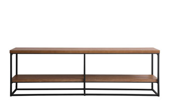 66 inch industrial tv stand in walnut (758|AF110360WT)