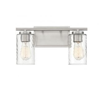 2 Light Brushed Nickel Bath Bar (8483|M80037BN)