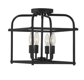 4 Light Matte Black Semi Flush (8483|M60061MBK)