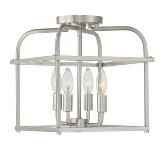 4 Light Brushed Nickel Semi Flush (8483|M60061BN)