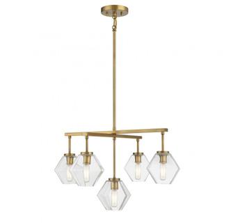 5 Light Natural Brass Chandelier (8483|M10097NB)