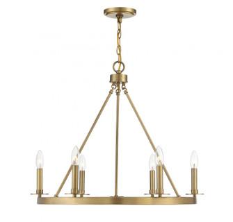 6 Light Natural Brass Chandelier (8483|M10093NB)