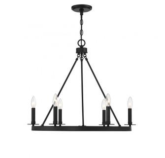 6 Light Matte Black Chandelier (8483|M10093MBK)