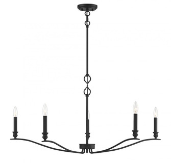 5 Light Matte Black Chandelier (8483|M10086MBK)
