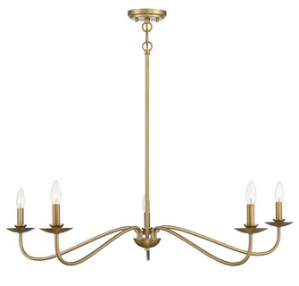 5 Light Natural Brass Chandelier (8483|M10085NB)