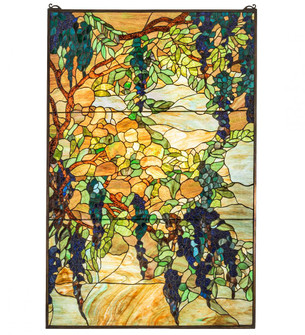 32'' Wide X 48'' High Tiffany Wisteria & Snowball Window (96|230806)