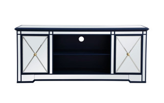 Modern 60 in. mirrored tv stand in blue (758 MF60160BL)