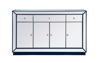 60 inch mirrored credenza in blue (758 MF53001BL)