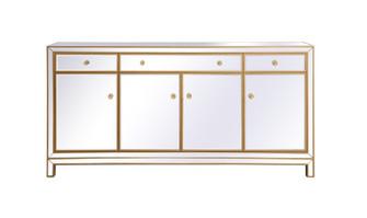 Reflexion 72 in. mirrored credenza in gold (758 MF72072G)
