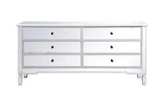 Contempo 72 in. mirrored chest in antique white (758 MF63672AW)