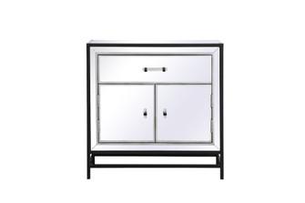 James 28.5 in. mirrored cabinet in black (758 MF72028BK)
