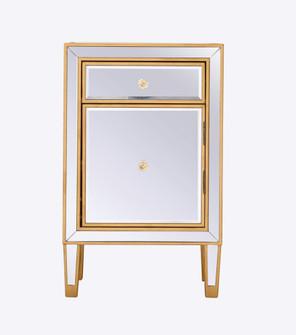 End table 1 drawer 18in. W x 13in. D x 29in. H in gold (758 MF72035G)