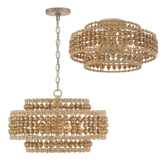 Silas 3 Light Burnished Silver Chandelier (205|SIL-B6003-BS)