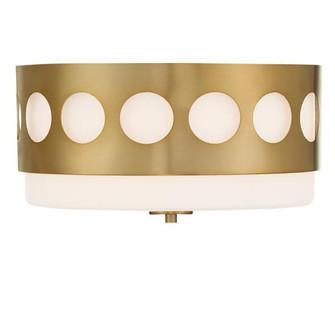 Kirby 2 Light Vibrant Gold Ceiling Mount (205|KIR-B8100-VG)