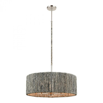 Abaca 5-Light chandelier in  Polished Nickel (91 32512/5)
