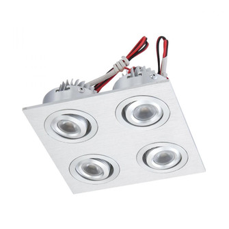 LED Squared Quad Directional Recessed Plate-mounted LED Button Downlight (91 WLE606C32K-0-98)