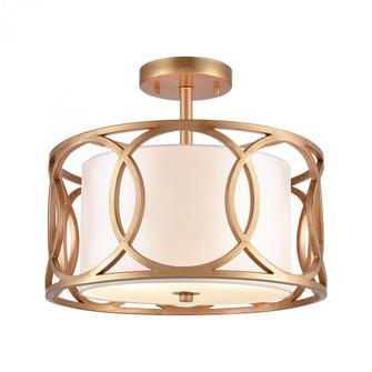 Ringlets 2-Light semi flush mount in  Matte Gold (91 33423/2)