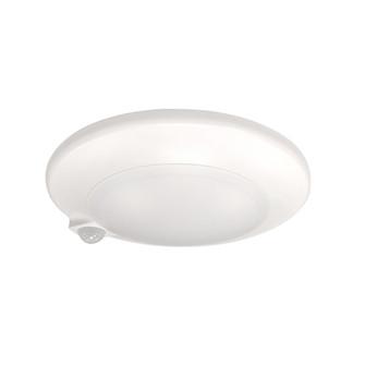 7'' AC Opal Surface Mounted LED with PIR Motion Sensor, 1000lm, 15W, 3000K, 90+CRI, 120V, White (104 NLOPAC-R7MS30W)