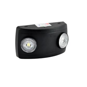 Compact Dual Head LED Emergency Light, 2x 1W, 2x 75lm, Black (104|NE-602LEDB)
