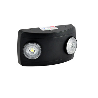 Compact Dual Head LED Emergency Light, 2x 1W, 2x 75lm, Black (104 NE-602LEDB)