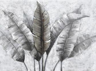 Banana Leaf Mixed-Media Canvas Wall Art (158|4DWA0122)