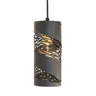 Flow 1-Lt Cylinder Mini Pendant - Matte Black/French Gold (158|240M01MBFG)