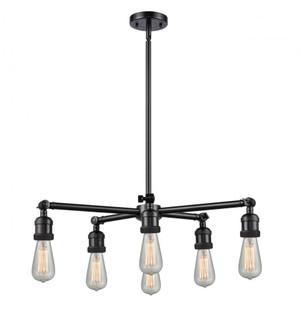Bare Bulb 6 Light Chandelier (3442 207NH-6CR-OB)