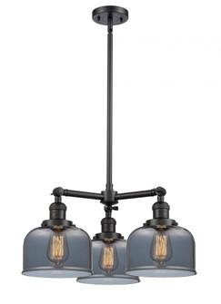 Large Bell 3 Light Chandelier (3442|207-BK-G73-LED)