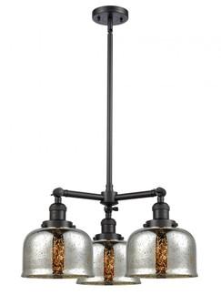 Large Bell 3 Light Chandelier (3442|207-BK-G78-LED)