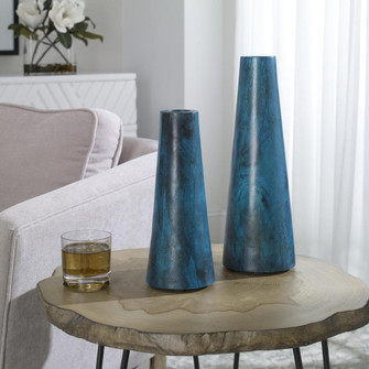 Uttermost Mambo Blue Vases, S/2 (85|17947)