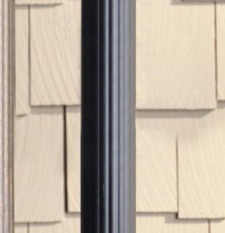 Outdoor Fluted Post (10687 9595BK)