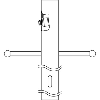 Post w/Int Photocell & Ladder (10687 9502BK)